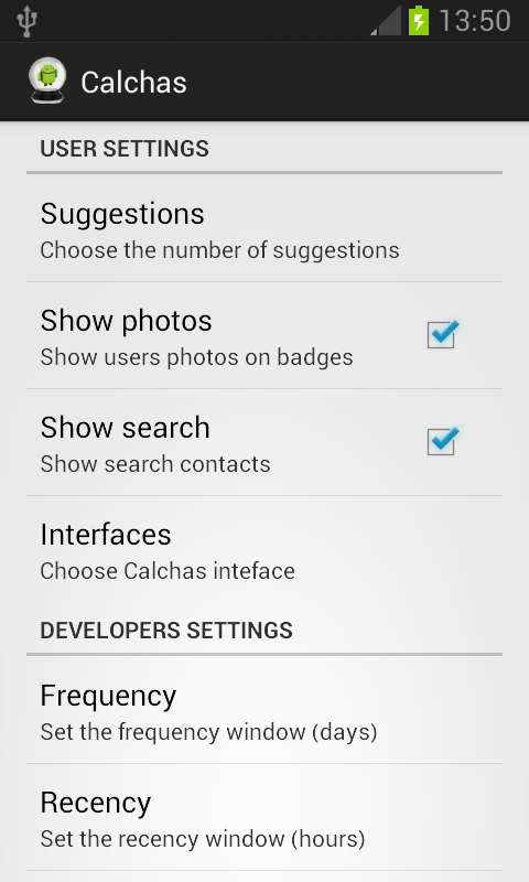 Calchas App - screenshot