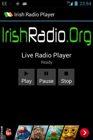 IrishRadio.Org Player