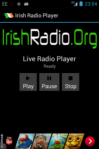 IrishRadio.Org Player- screenshot