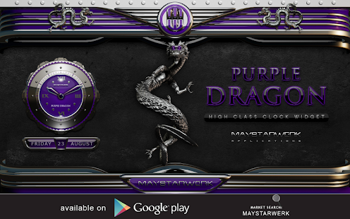 NEXT Theme Drache lila Screenshot