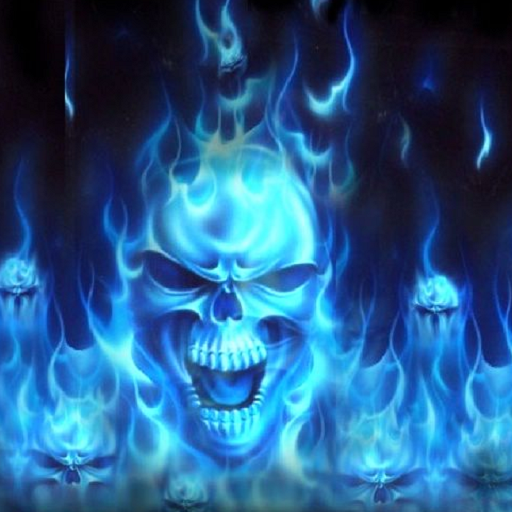 Blue Fire Skull Live Wallpaper 3 00 Mb Latest Version