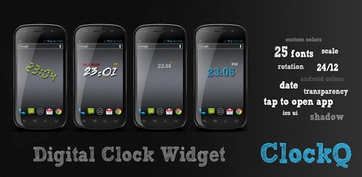 ClockQ digital clock widget apk