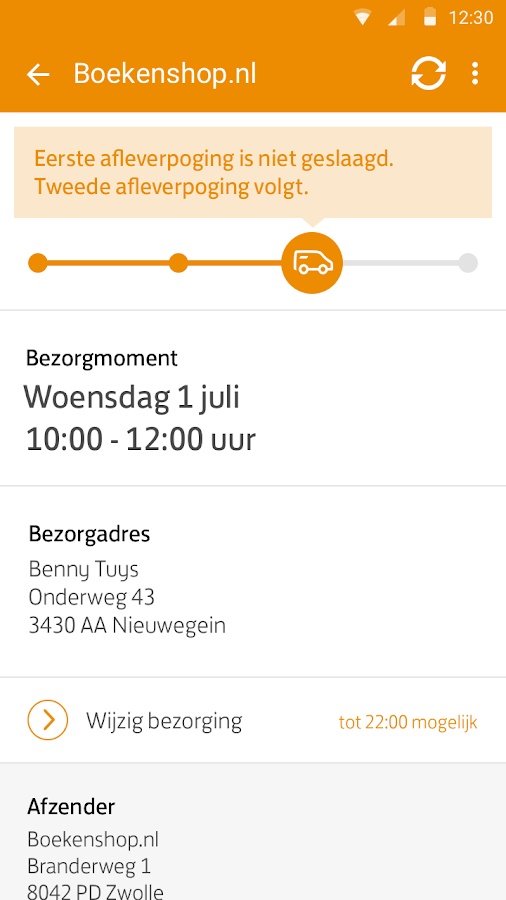 PostNL - screenshot
