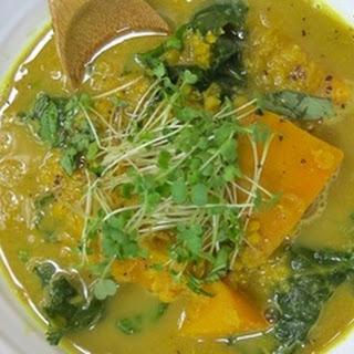 Pumpkin-Lentil Soup With A Maca Boost