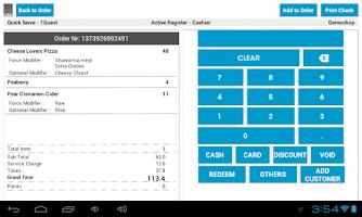 Screenshot of POS Cibo