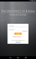 Screenshot of Univ. of Kansas Cancer Center