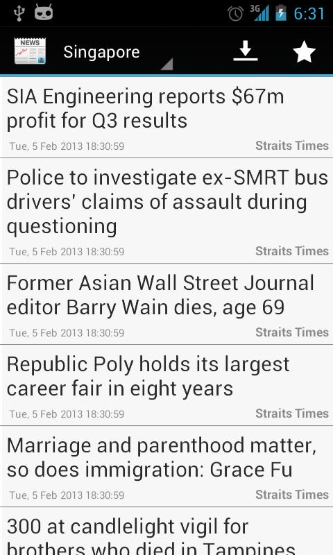 Singapore News - screenshot