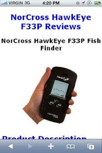 F33p fish finder reviews android for Fish finder apps