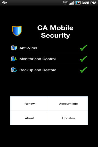 CA Mobile Security - screenshot