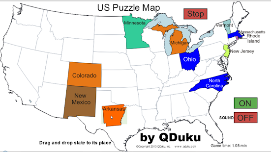 Us states map puzzle game android apps on google play us states map puzzle game screenshot thumbnail gumiabroncs Images