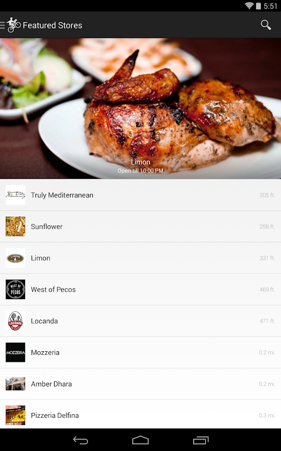 Postmates - screenshot