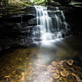 Miners Run by Isaac Golding - Landscapes Waterscapes ( waterfalls, pennsylvania, mcintyre wild area, ralston, miner's run )