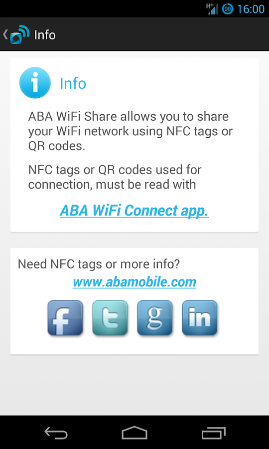 ABA WiFi Share- screenshot