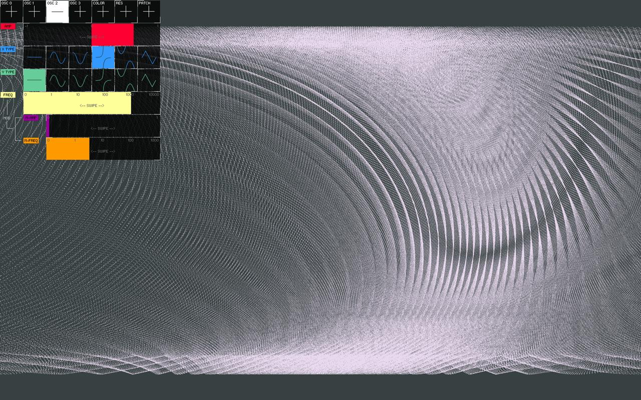 VOSC Visual Synthesizer - screenshot