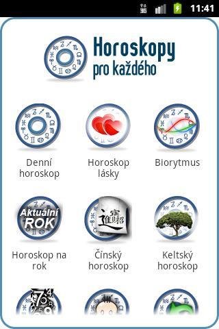 Horoskopy pro každého – snímek obrazovky