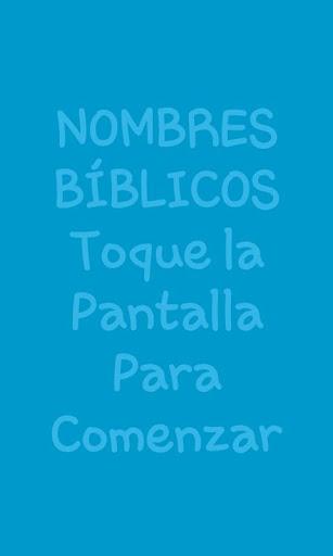 Glosario Nombres Bíblicos
