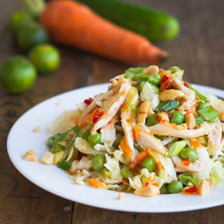 Asian Chicken Salad with Sesame Chili Vinaigrette.