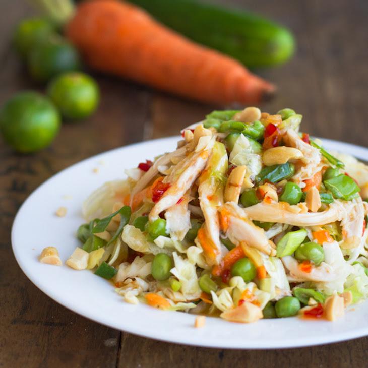 Asian Chicken Salad with Sesame Chili Vinaigrette Recipe