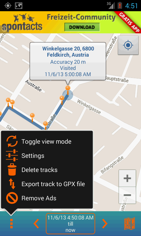 Track My Locations - screenshot