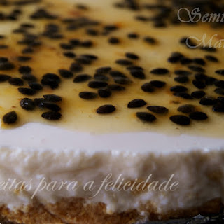 Chilled Passion Fruit Tart.