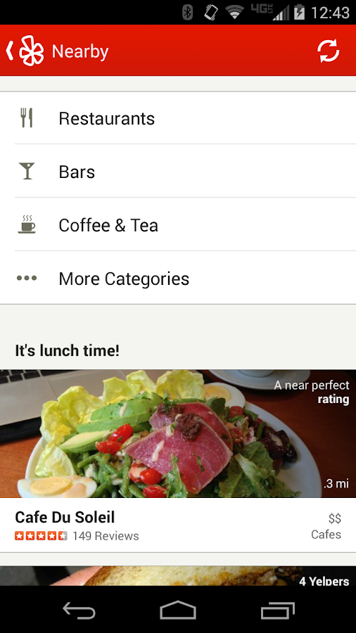 Yelp - screenshot