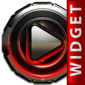 Poweramp skin widget Red Glow