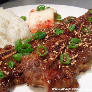 Korean Kalbi (BBQ Beef Short Ribs)