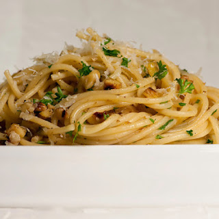 Spaghetti with Walnuts and Anchovies.