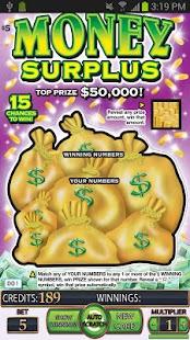 ===Money Surplus Lotto Card===