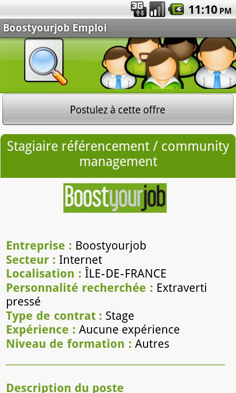 Boostyourjob Emploi - screenshot
