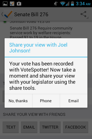 VoteSpotter - screenshot