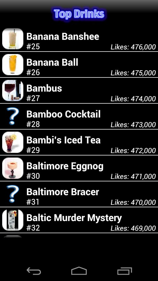 Mr. Bartender Drink Recipes- screenshot
