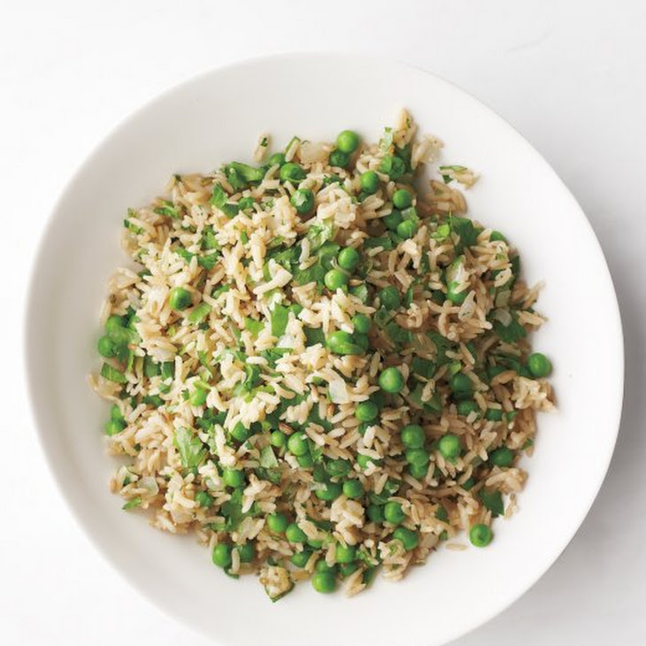 Brown Rice with Peas and Cilantro Recipe