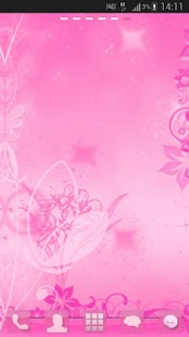 GO Launcher Pink Theme Flowers - screenshot thumbnail