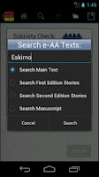 Screenshot of e-AA: a Big Book Reference