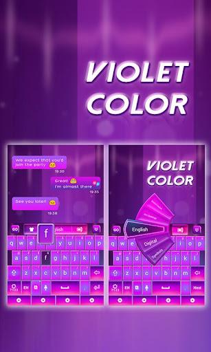 GO Keyboard Violet Color