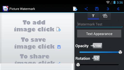 Image Watermark Screen