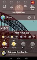 Screenshot of Animated Weather Widget, Clock