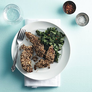 Quinoa Chicken With Collards