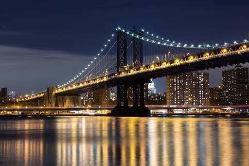 Manhattan Bridge in New York.