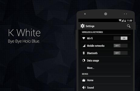 K White CM11 Theme v4.2