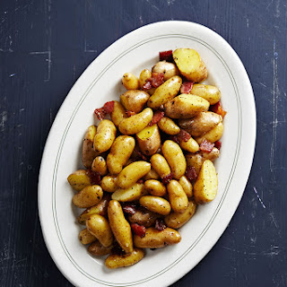 Fingerling Potatoes with Bacon.