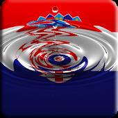 Croatia flag water effect LWP