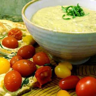 Tomato Tart with Zucchini Parmesan Soup.