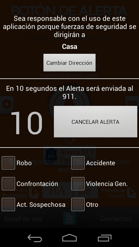 Boton de Alerta - screenshot