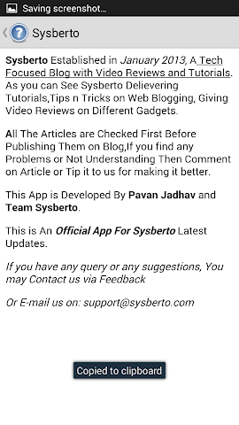 Screenshots for Sysberto