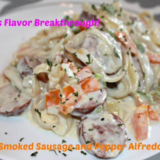 Smoked Sausage and Pepper Alfredo!.