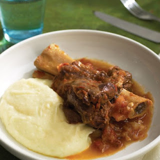 Slow-Cooked Lamb Shanks and Tomatoes.