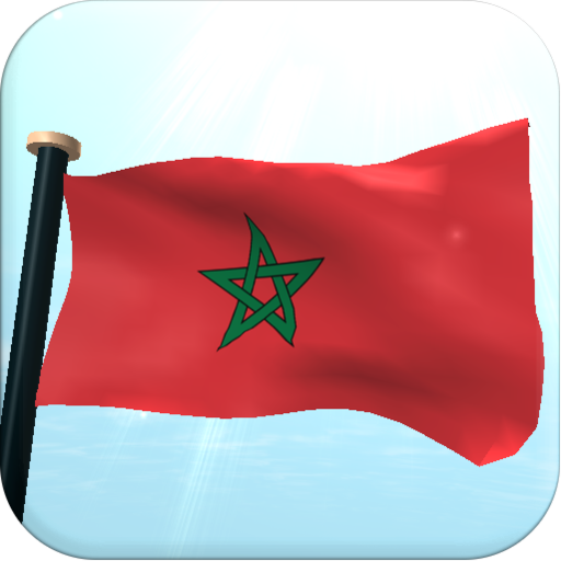 Morocco Flag 3D Free Wallpaper