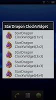 Screenshot of StarDragon ClockWidget